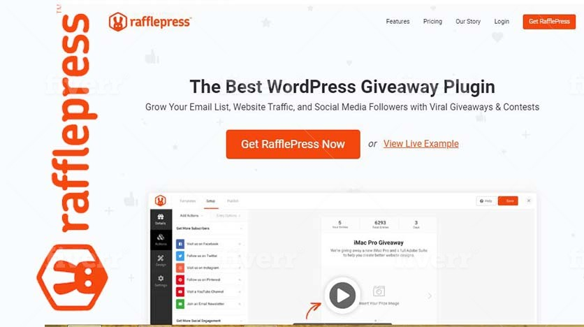 Rafflepress – Grow Your Email List, Followers And Website Traffic With Viral Giveaways