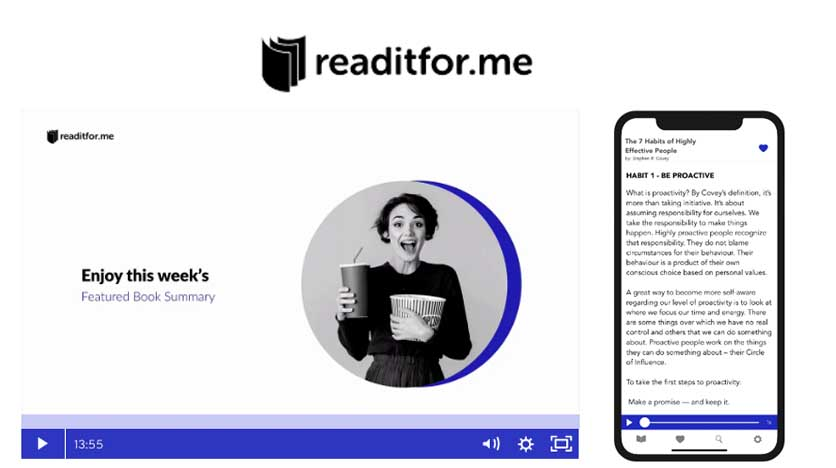 Readitfor.me – Learn On The Go With Our Audio And Video Summaries