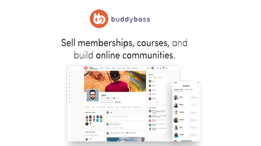 BuddyBoss – Build An Online Community, Sell Memberships And Courses